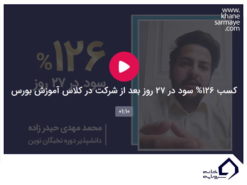 پاداش سود آقای محمدمهدی حیدرزاده