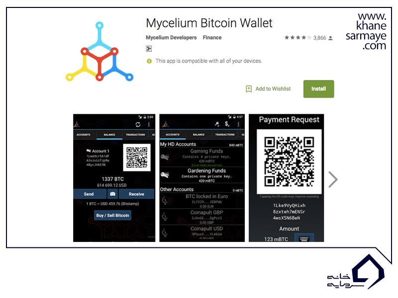 راهنمای گام به گام کیف پول MyCelium